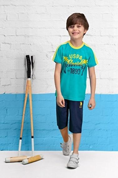 U.S. Polo Assn. U.S. Polo Assn Lisanslı Nar Erkek Çocuk Kapri Takım Mavi